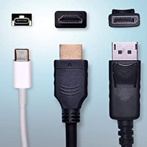 DisplayPort, HDMI, USB 3.1 Type C