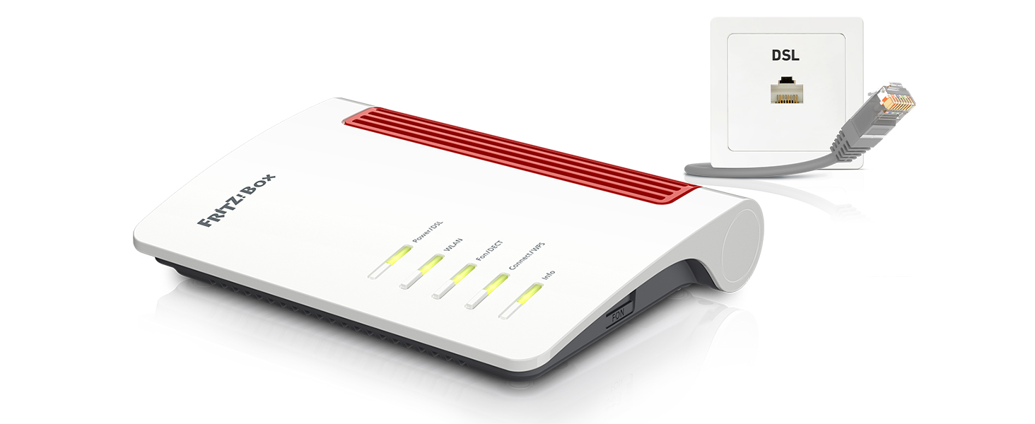 AVM FRITZBox 200 High End WLAN AC+N Router DSL/VDSL, 200MBit/s 200GHz  und 200MBit/s 20,20GHz, bis zu 20Mbit/s durch VDSL Supervectoring 3200b, ...