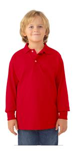 Youth, boy's, girl's, polo, stain resistant, uniform