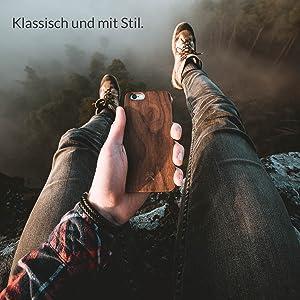 woodcessories ecocase slim holz Natur wood fsc premium design schutz hülle cover bumper apple iPhone