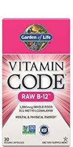 garden of life vitamin code raw b 12