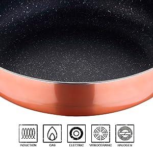 Batería de cocina COVA San Ignacio Premium 7 PCS Interior mármol antiadherente Aptos para inducción