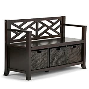 Superbe Adrien Storage Bench With Basket Storage