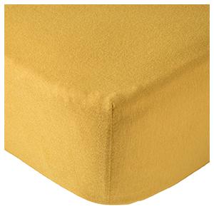 drap housse moutarde