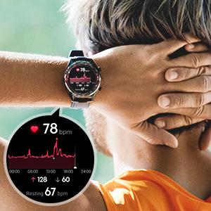 reloj inteligente informes de frecuenciacardíaca