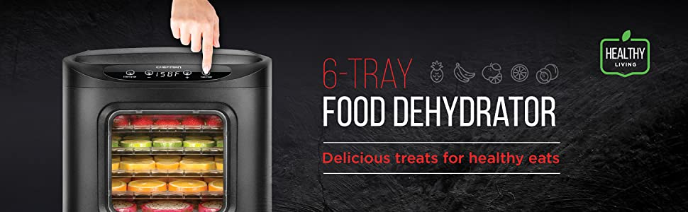 food dehydrator machine beef jerky 6 tray bpa free fruit vegetable dryer dehydration dehydrating