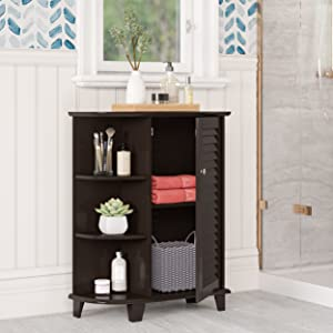 cabinet with side shelves