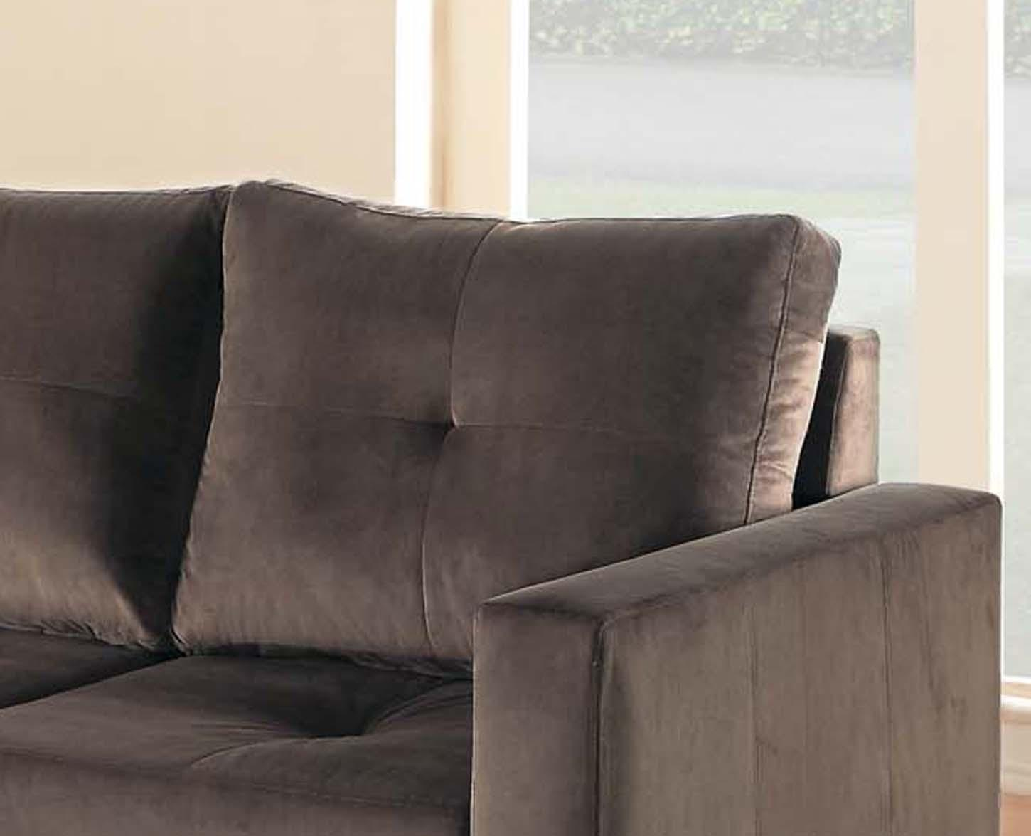Homelegance phelps contemporary microfiber for Amazon sectional sofa with chaise