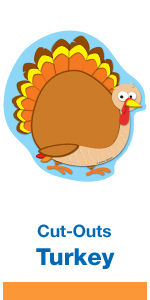 Turkey classroom colorful cut-outs