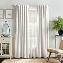airy casual pretty solid drapery lined 84 95 length long accent interior light ready made white soft