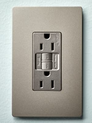 nickel gfci with screwless wall plate