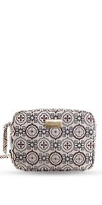 don algodon mujer monedero bolso de mano bandolera con cadena bolso bowling geometric