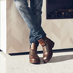 mens boots, hiking boots, brown boots, boots, trek, mens fashion, shoes, mens shoes, brown shoes