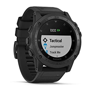 Garmin Tactix Charlie, Premium GPS Watch with Tactical Functionality, Night Vision Goggle Compatibility, TOPO Mapping and Other Tactical-specific ...