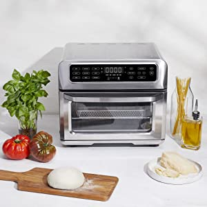Toaster oven air fryer combo stainless steelnon stickhealthy cooking less oil auto shutoff