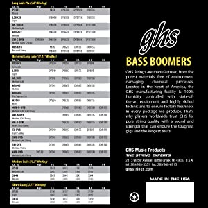 Bass Boomers, Bass Strings, 4-string bass, 4-string, D'addario, Rotosound, Ernie Ball, DR Strings