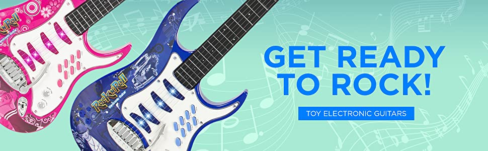 Music Mix Electronic Toy Guitar with Music and Lights      Fast Free Shipping