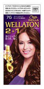 「Wellaton ウエラトーンツープラスワンクリームタイプ」のパッケージ。 色はパープル。美しい髪色の外国人女性が微笑んでいる。