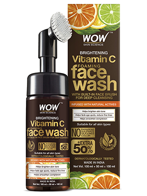 Vitamin C Foaming Face Wash with Built