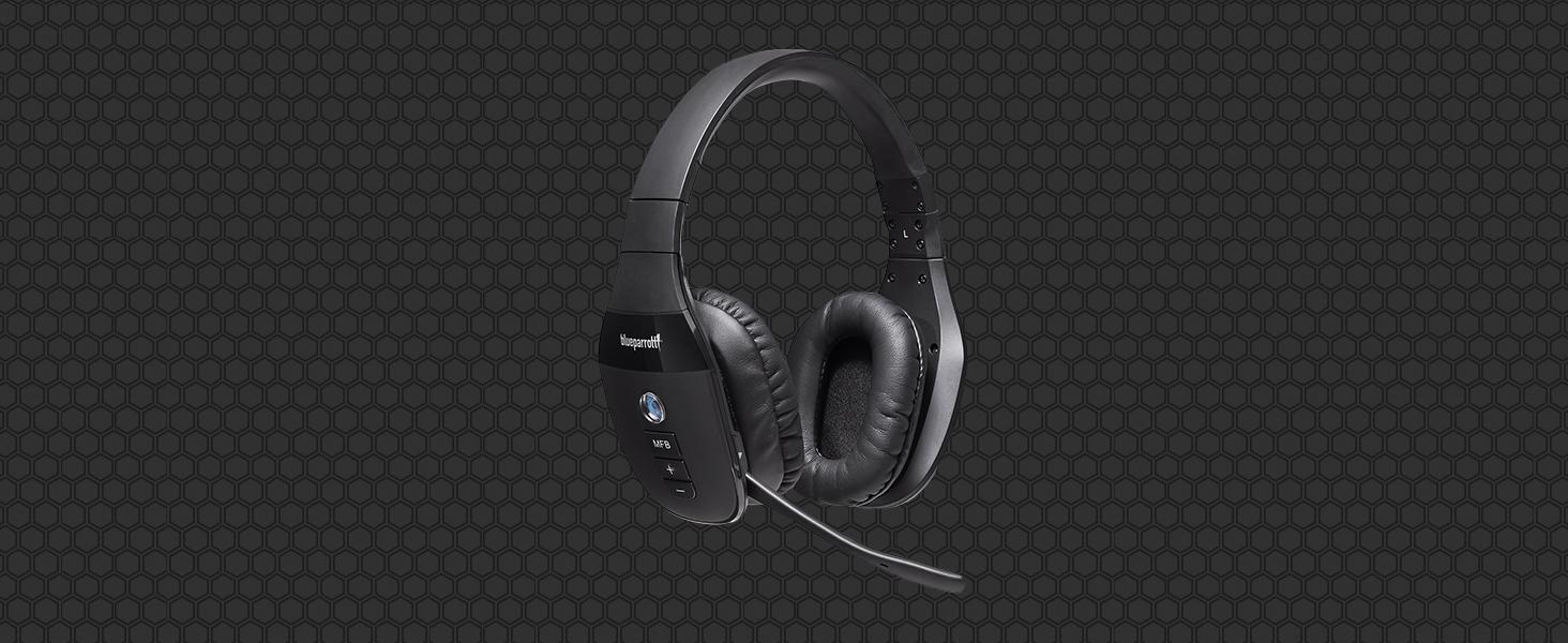 Blueparrott S450 Xt Stereo Bluetooth Over Ear Headset 82 Noise Cancelling Mit Voicecontrol Perfekt Für Unterwegs Und In Lärmintensiver Umgebung Schwarz Elektronik