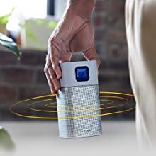 Portable Bluetooth speaker mode with built-in 5-watt chambered audio