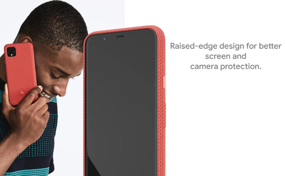 Google Pixel Schutzhülle Für Pixel Schutzhülle Mit Passgenauem Stoff Und Active Edge Kompatibel Blue Ish Pixel 4 Ga01283 Elektronik
