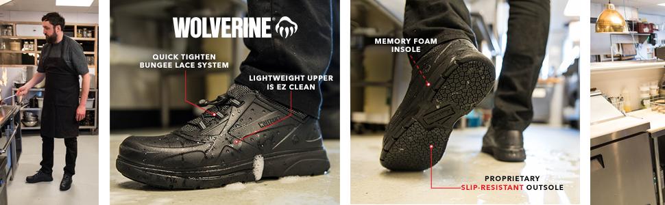 Serve, Service, Shoe, Slip-Resistant, EZ Clean