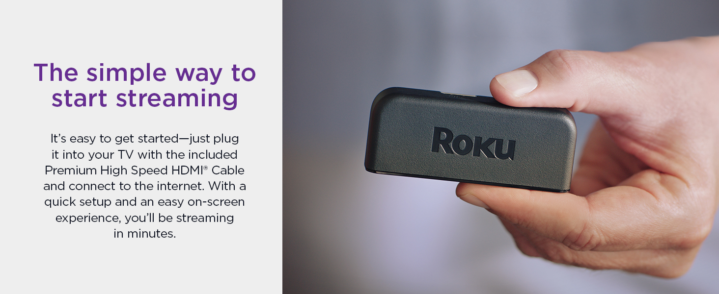 Roku premiere the simple way to start streaming