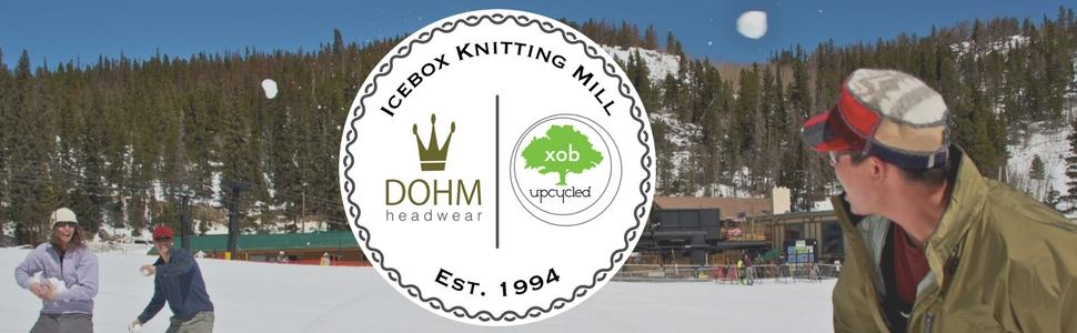 icebox knitting, knitting hat, made in usa, usa made hats, dohm hats, dohm, xob, winter hat, hat