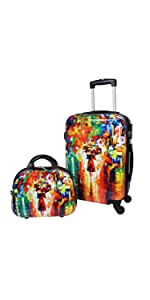 World Traveler Destination Collection 2-Piece Carry-On Luggage Set Paris 24DM6011
