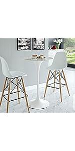 ... Eero Saarinen, Tulip Table, Lexmod, White, Marble, Black, Tulip Coffee