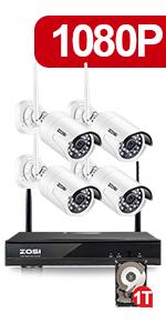 Amazon.com: ZOSI Sistema de cámara de seguridad 8CH 4-IN-1 ...