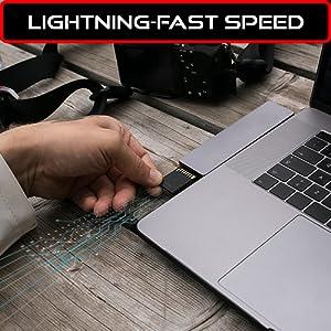 Lightning fast speed sdxc memory card