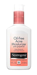 Neutrogena Oil-Free Acne Moisturizer Pink Grapefruit, 4 Fl. Oz