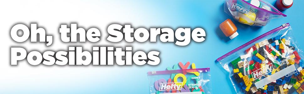 Hefty Slider Storage Bags