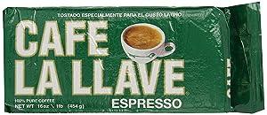 cafe la llave, espresso, cuban coffee, latin coffee, dark roast, fine ground