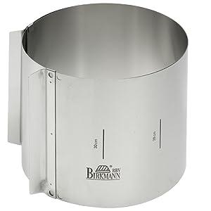 Lares Tortenring mit Klemmhebel extra hoch 15 cm Edelstahl Backrahmen Springform
