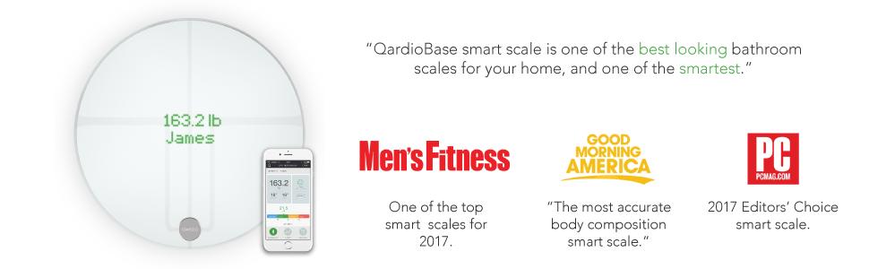 QardioBase 2 Wireless Smart Scale and Body Analyzer - Arctic White 14