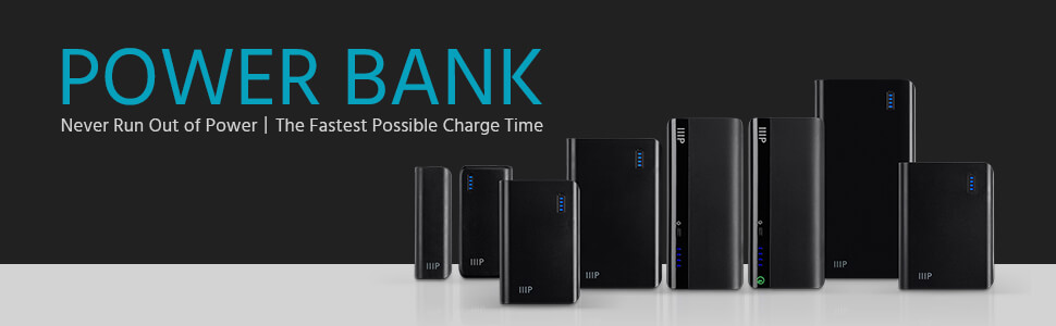 Monoprice Select Series Portable Cell Phone Charger for Universal/Smartphones, 4,000mAh Power Bank