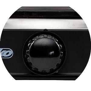 Mesko MS 6508 Hornillo eléctrico, 1000 W, Aluminio, Negro