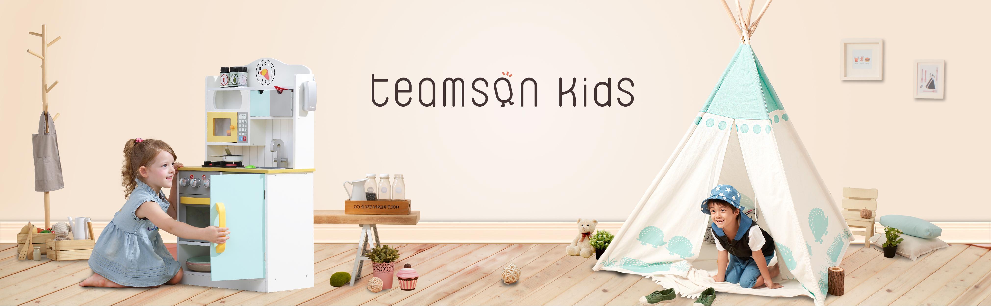 Amazon.com: Teamson Kids Wooden Retro Play Kitchen: Toys & Games