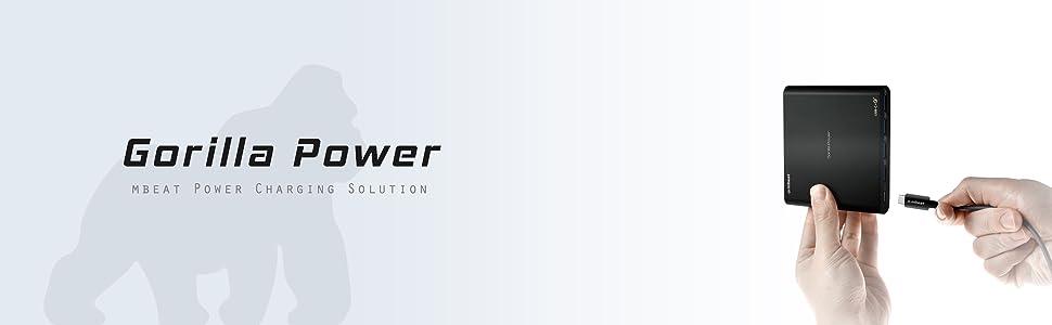 mbeat gorilla power pd80 usb-c PD laptop charger banner