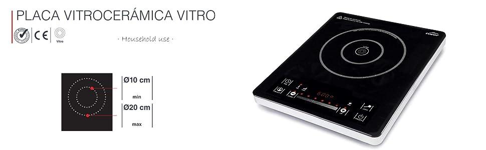Lacor 69232 Placa vitrocerámica Vitro, Cerámica, Negro ...