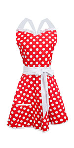 Lovely Sweetheart Red Retro Kitchen Cooking Apron