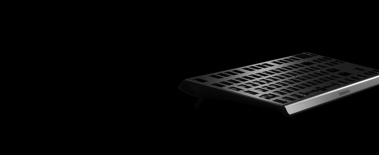SteelSeries Apex Pro TKL Compacto Teclado mecánico para Gaming Teclas mecánicas de actuación Ajustable Smart Display con OLED Teclado Francesa AZERTY