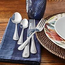 beaded flatware set