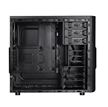 Thermaltake Versa H22 Black ATX Mid Tower Perforated Metal Front and Top Panel Gaming Computer Case 2.0 Edition with One 120mm Rear Fan Pre-Installed ...