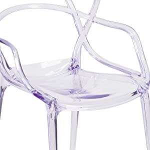Flash Furniture FH-173-APC-GG Nesting Series Transparent Stacking Side Chair, 1 Pack