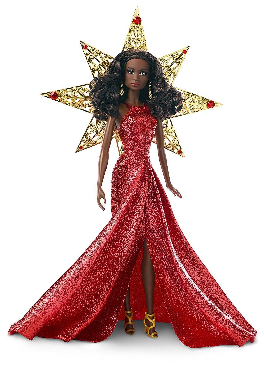 Amazon.com: Barbie 2017 Holiday Nikki Black Hair with Red ...