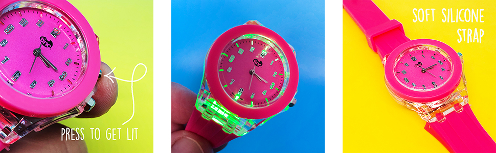 tinc watch led time date adjustable strap